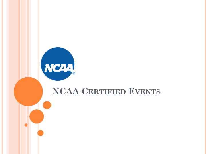Ncaa certified events