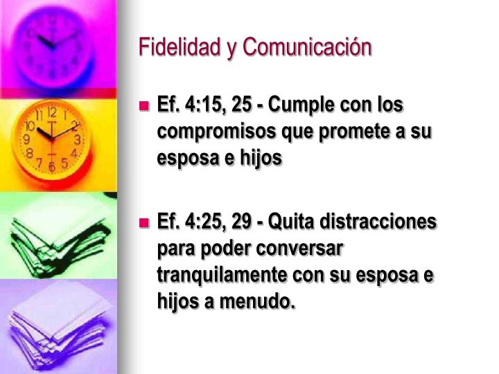 Fidelidad y Comunicación