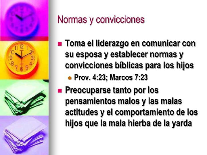 Normas y convicciones