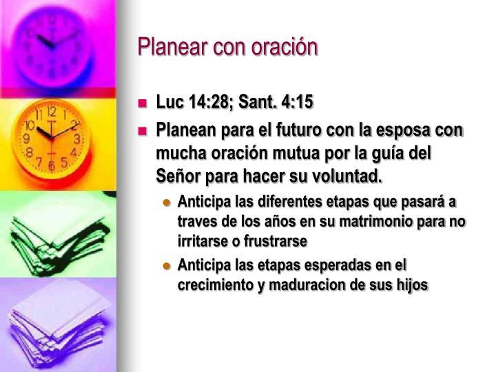 Planear con oración