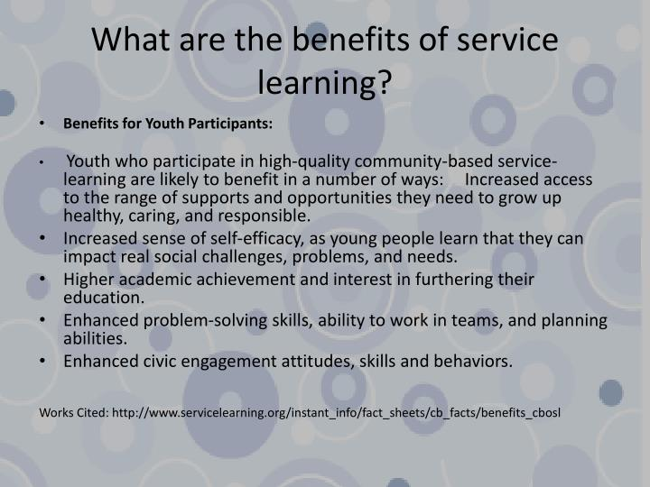 What are the benefits of service learning?