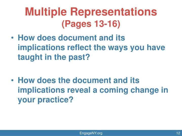 Multiple Representations