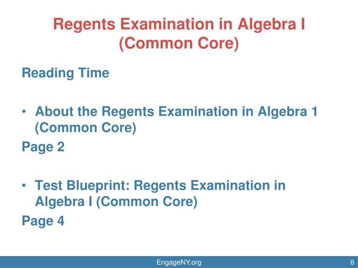 Regents Examination in Algebra