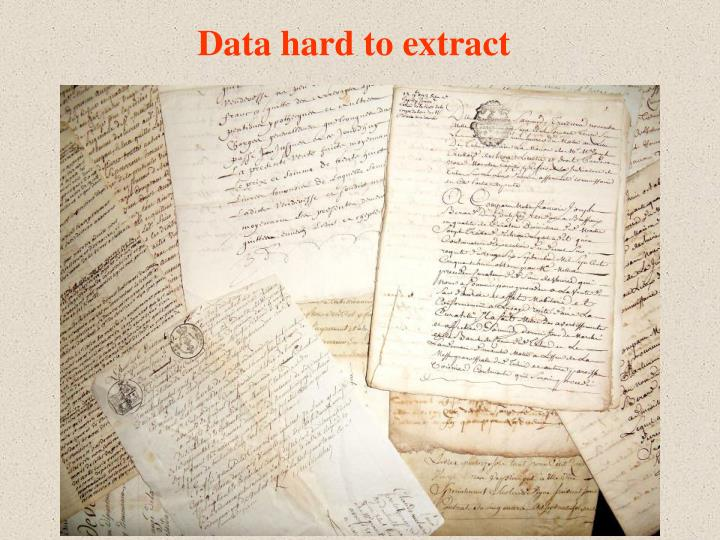 Data hard to extract