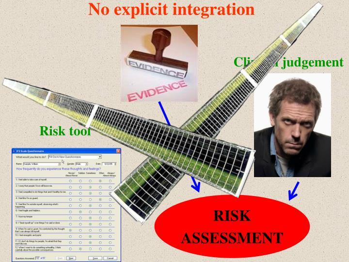No explicit integration