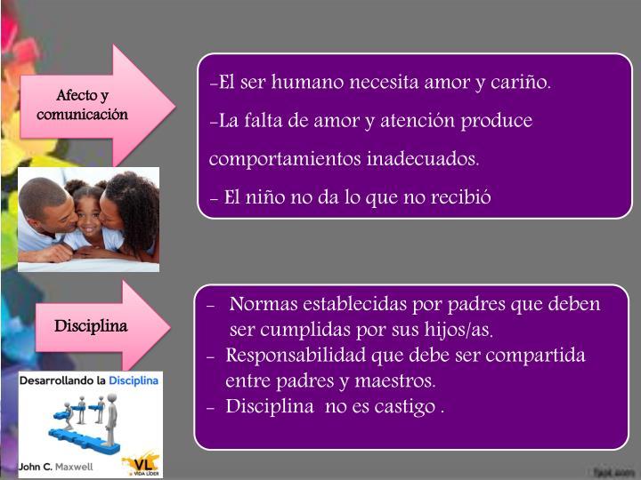 Afecto y comunicación