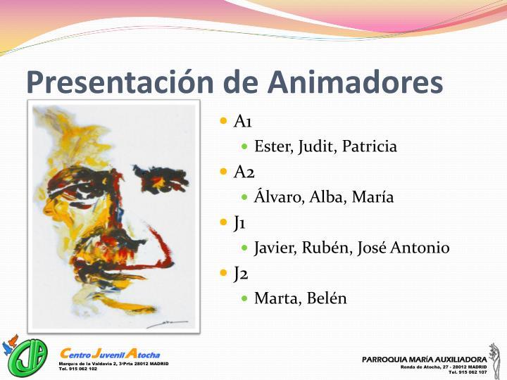 Presentación de Animadores