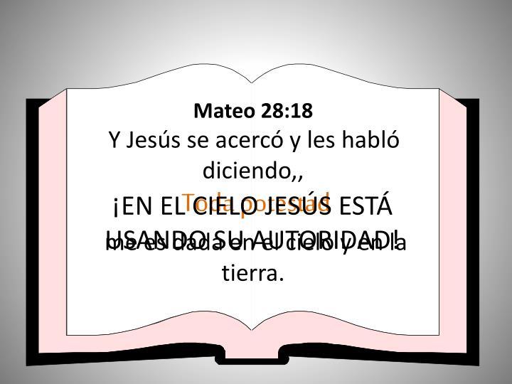 Mateo 28:18