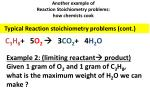 another example of reaction stoichiometry problems how chemists cook