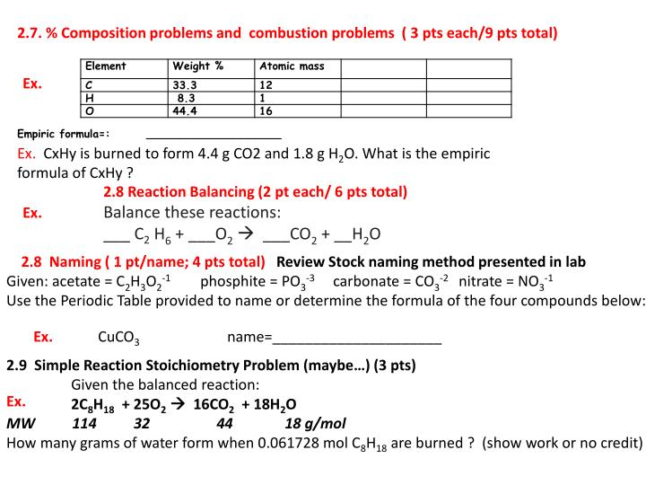 2.7. % Composition problems and