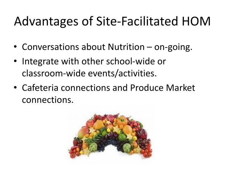 Advantages of Site-Facilitated HOM