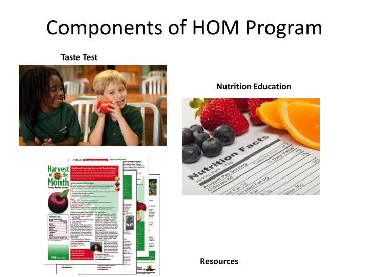 Components of HOM Program
