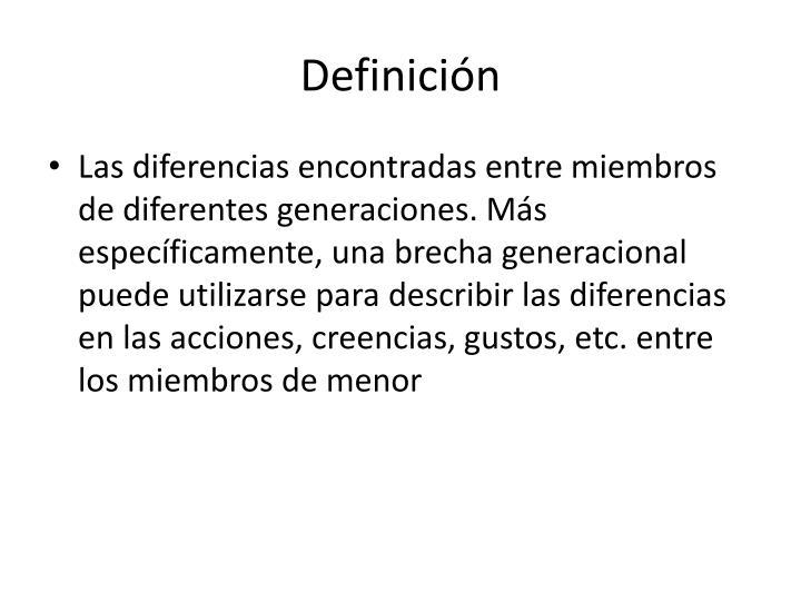 Definicin