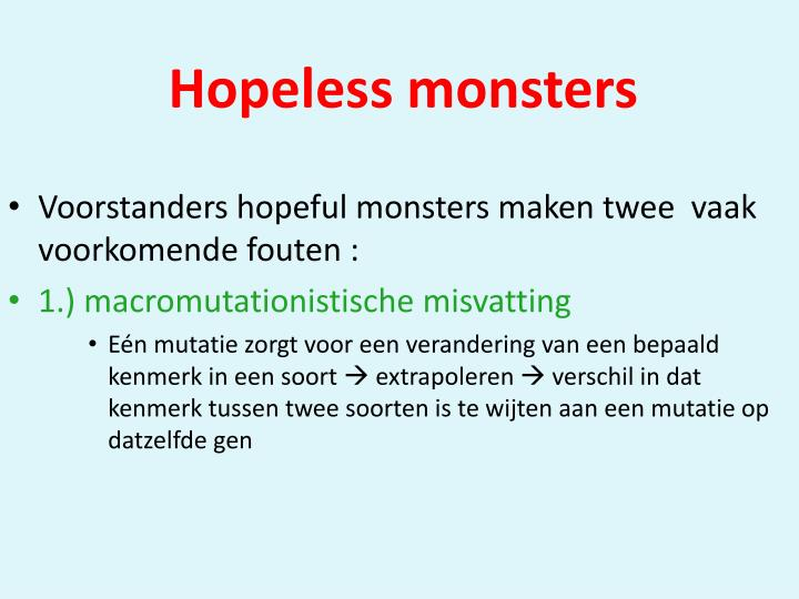 Hopeless monsters