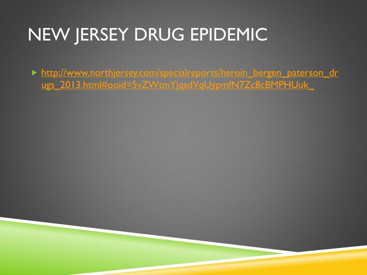 New jersey drug epidemic1