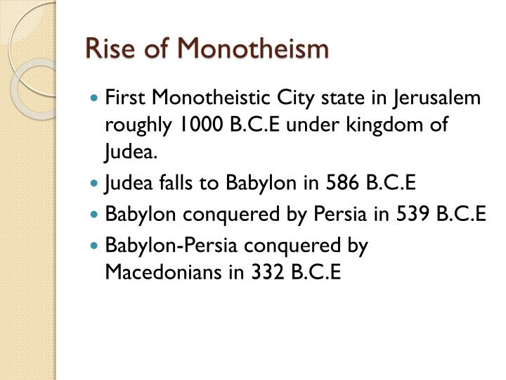 Rise of Monotheism