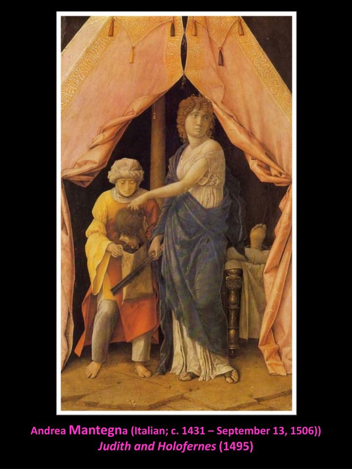 Andrea mantegn a italian c 1431 september 13 1506 judith and holofernes 1495