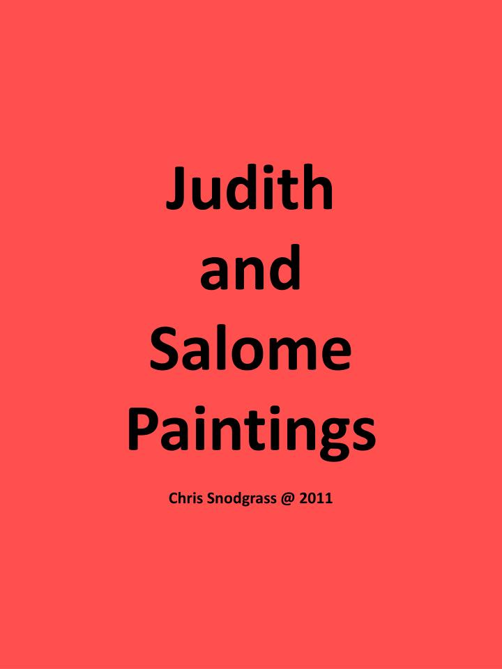 Judith and salome paintings chris snodgrass @ 2011