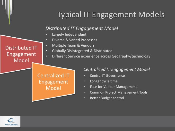 Typical IT Engagement Models