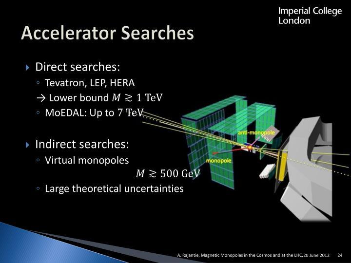 Accelerator Searches