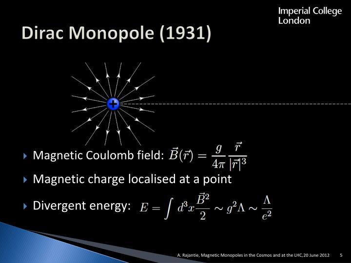 Dirac Monopole (1931)