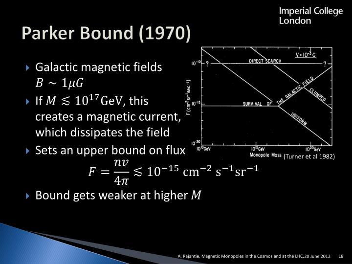 Parker Bound (1970)