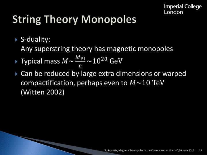 String Theory Monopoles
