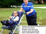 a big push forward