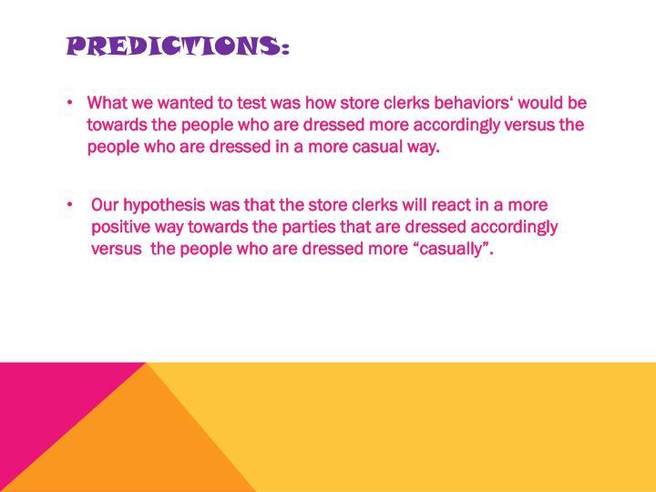 Predictions: