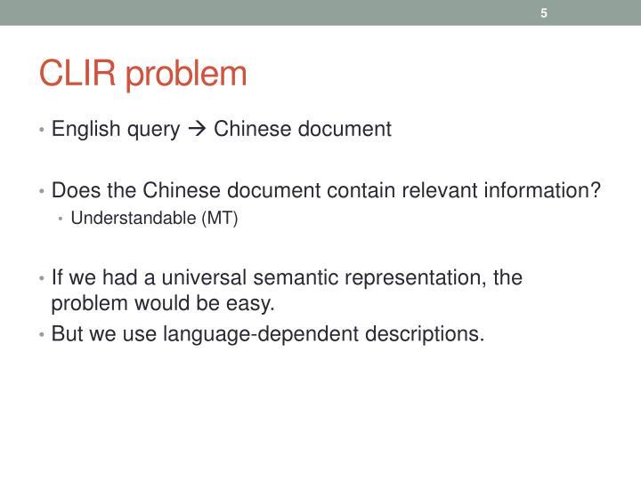 CLIR problem