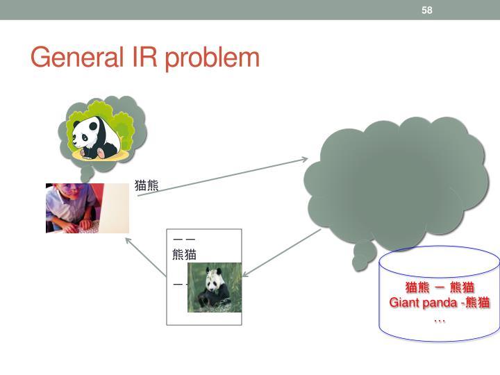 General IR problem