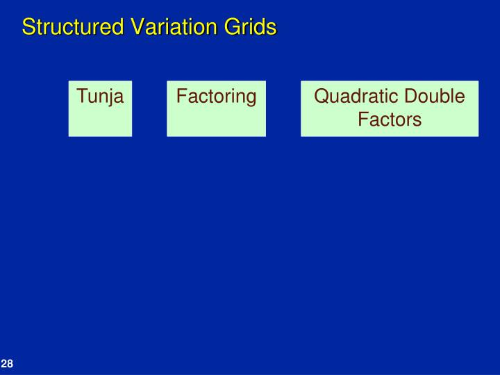 Structured Variation Grids