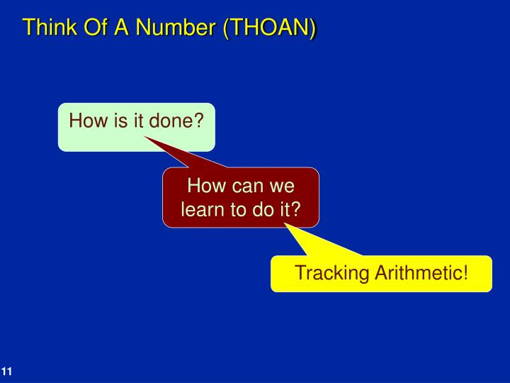 Think Of A Number (THOAN)