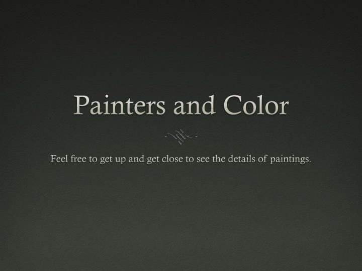 Painters and color