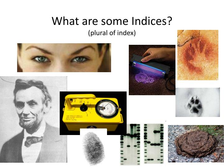 What are some Indices?