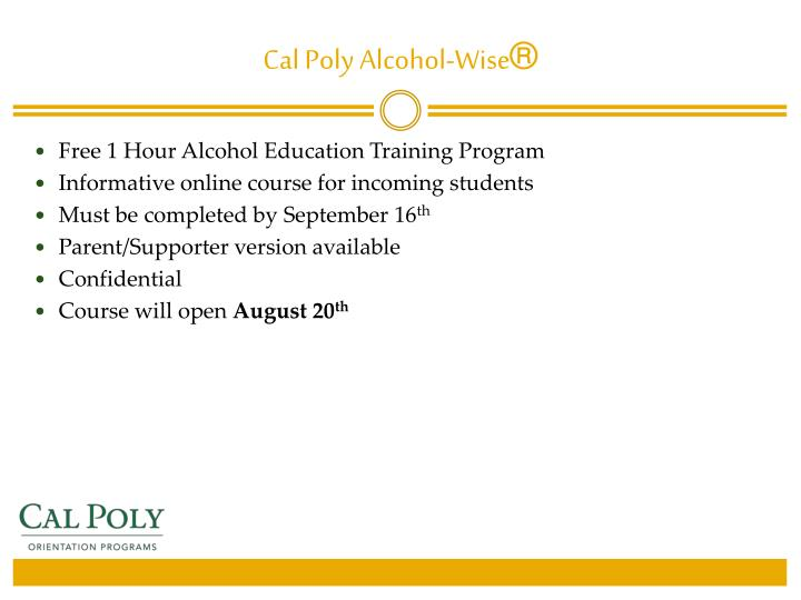 Cal Poly Alcohol-Wise