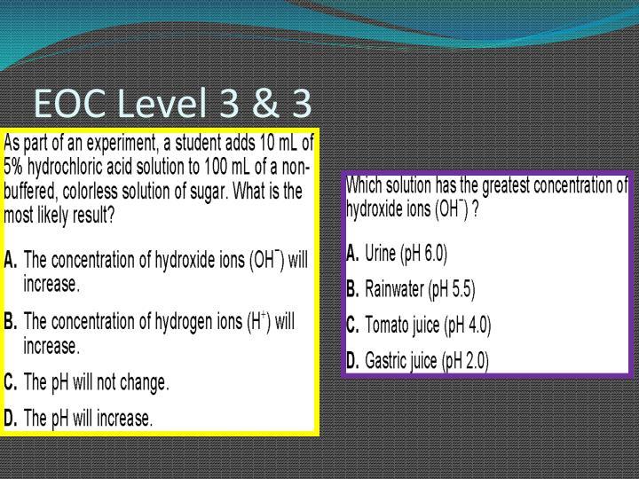 EOC Level 3 & 3
