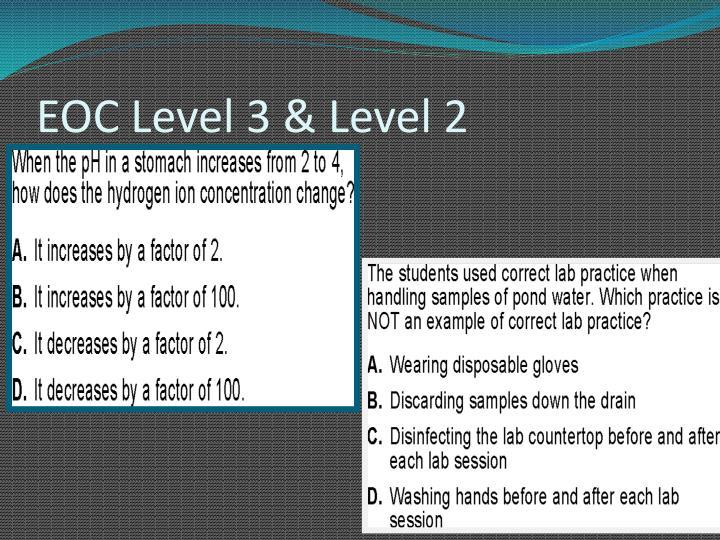 EOC Level 3 & Level 2