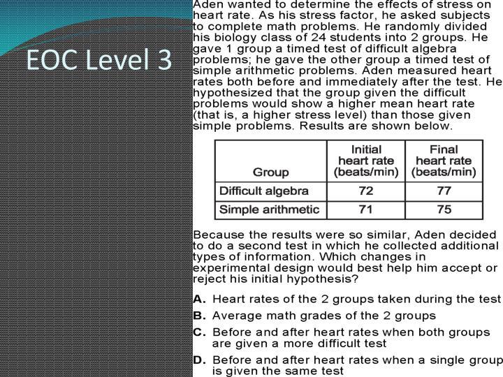 EOC Level 3