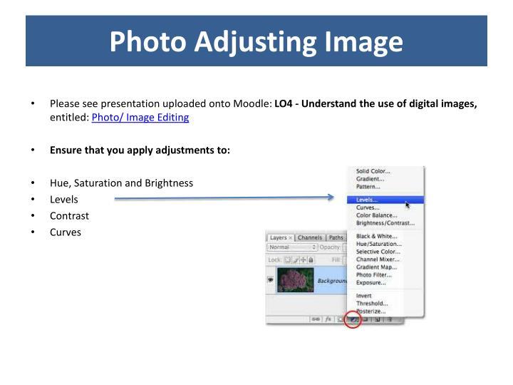 Photo Adjusting Image