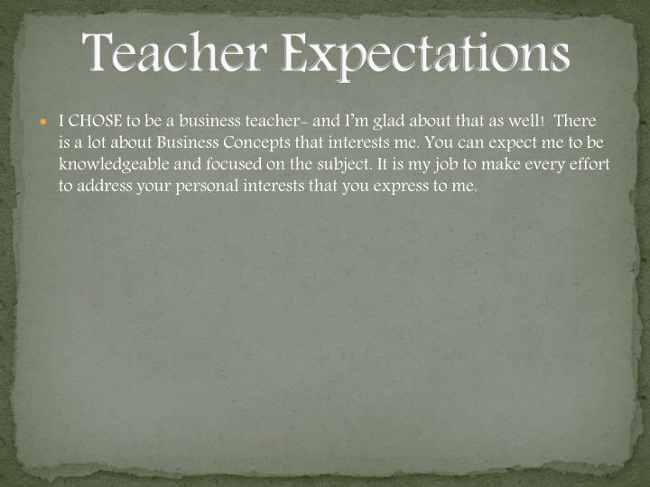 Teacher Expectations