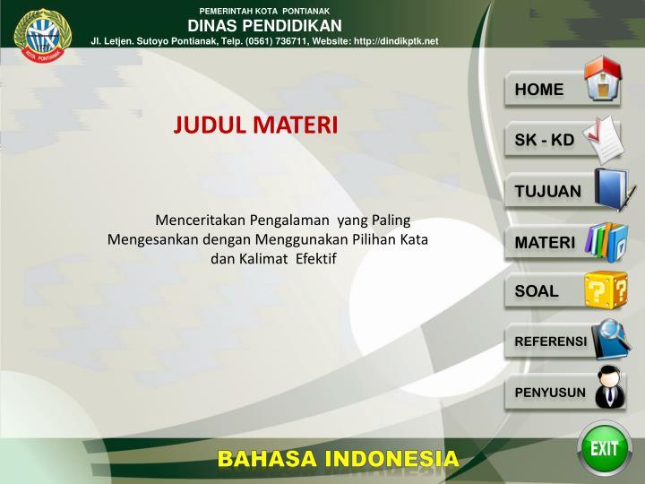 JUDUL MATERI