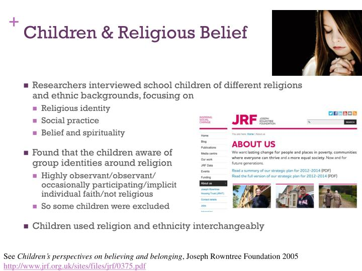 Children & Religious Belief
