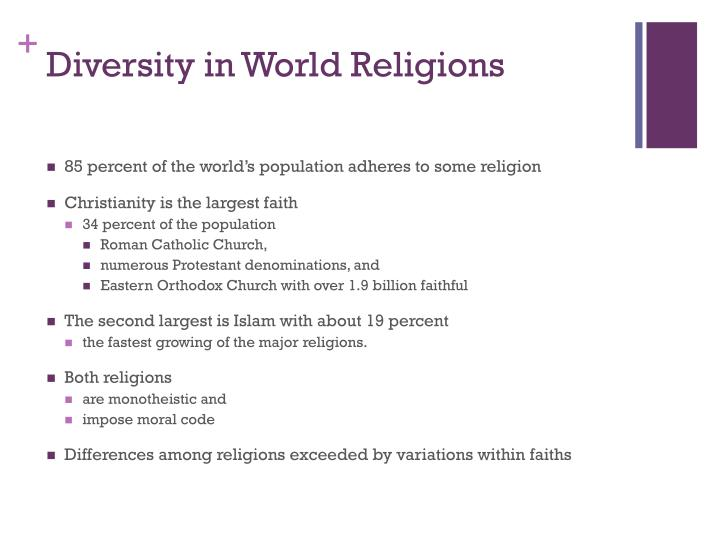 Diversity in world religions