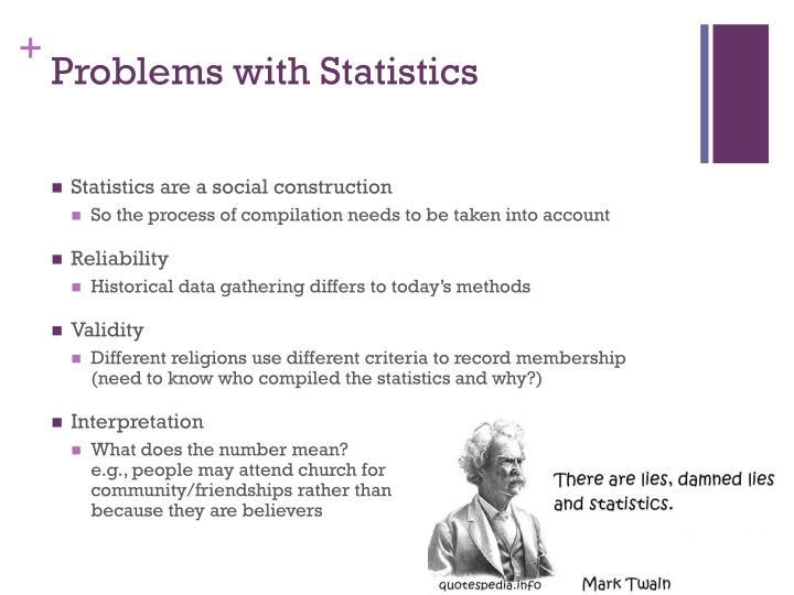 Problems with Statistics