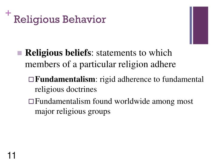 Religious Behavior