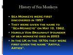 history of sea monkeys