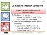 compound interest equations