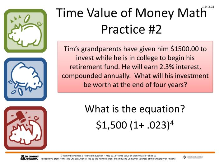 Time Value of Money Math Practice #2