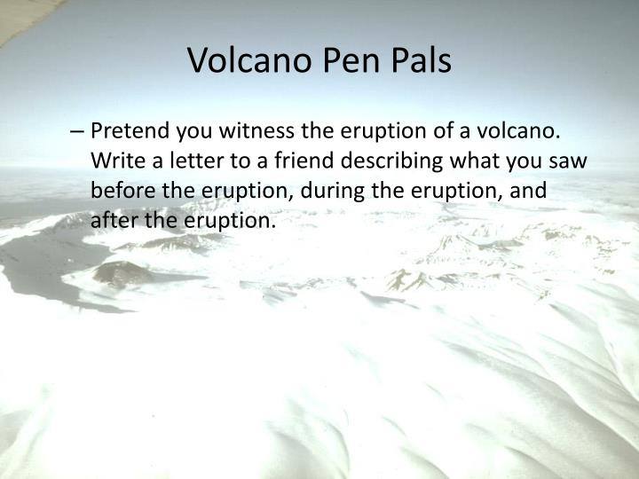 Volcano Pen Pals
